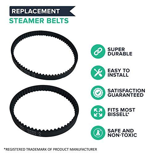 Think Crucial Replacement Belt Parts-Vacuum Belts for Compatible with Bissell ProHeat 2X Models 9200 9300 9400 Series-Pair with Part #203-6688 and #203-6804 - Bulk Pack Sizes-Home,Office Use (8 Pack)