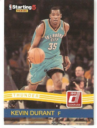 2010-11 Donruss NBA Starting 5 #KD Kevin Durant - Oklahoma City Thunder - Limited Edition Promo Basketball Trading Card