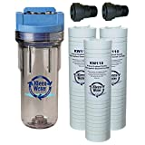 Whole House Water Filter - Transparent / Clear Housing with 3/4 Inch Quick