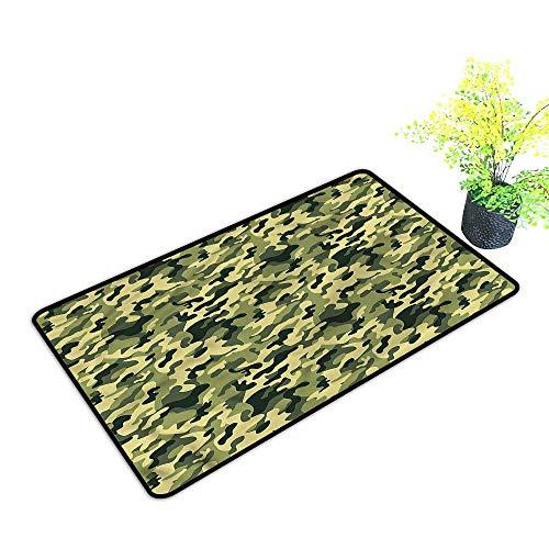 Door mat Thin Low Profile Indoor Camouflage,Pale Clothing Motif Funny Door Mat,H19xW31 inch