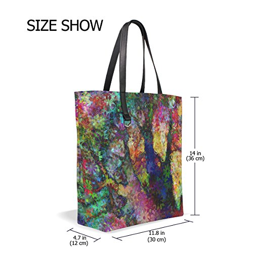 Women Fur 001 All Size For Fabric Fits Bag Multicolored Mnsruu Tote x1w0Iff