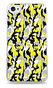 Yellow Camouflage DesignWhite Silicone Case for iPhone 5 / 5S