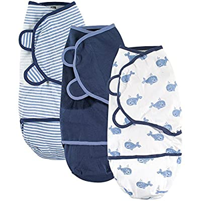 Hudson Baby Swaddle Wrap, 3 Pack