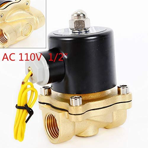 "New AC 110V Electric Solenoid Valve 1/2"" Brass 100PSI Water Air Normal Closed N/C from TFCFL"