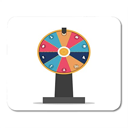 Amazon com: Mouse Pads Prize White Spin Wheel of Fortune