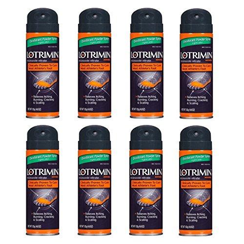 Lotrimin Powder Deodorant - Bayer Lotrimin AF Antifungal Deodorant Powder Spray, 4.6 oz (8 Pack)