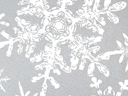 (Silver & White Lacy Snowflakes Christmas Gift Wrap Wrapping Paper - 16ft Roll)