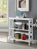 Cheap Convenience Concepts Omega 3-Tier Bookcase, White