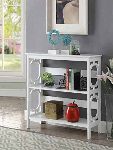 Convenience Concepts Omega 3-Tier Bookcase, White