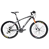 BEIOU Carbon Fiber Mountain Bike Hardtail MTB SHIMANO M610 DEORE 30 Speed Ultralight 10.8 kg RT 26 Professional External Cable Routing Toray T800 Matte Black CB005 (White, 17-Inch) For Sale