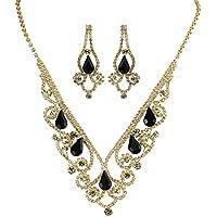 Vintage Style Elegant Necklace Earrings Set Cubic Zirconia