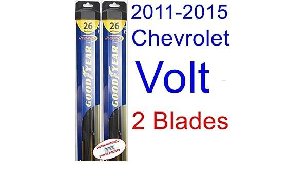 2011 - 2015 Chevrolet Volt hoja de limpiaparabrisas de repuesto Set/Kit (Goodyear limpiaparabrisas blades-hybrid) (2012,2013,2014): Amazon.es: Coche y moto