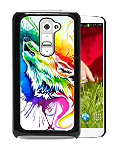 Hot Sale LG G2 Case ,Popular Unique Designed Case With Rainbow wolf Black For LG G2 Case High Quality Phone Case