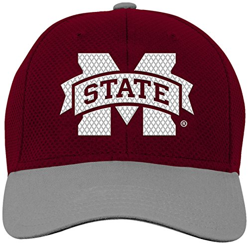 NCAA by Outerstuff NCAA Mississippi State Bulldogs Youth Boys Tech Structured Snap Hat, Maroon, Youth One Size