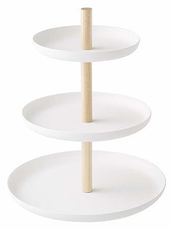 Excellent Houseware Etagere Porzellan Weiß Mit 3 Etagen Ebenen