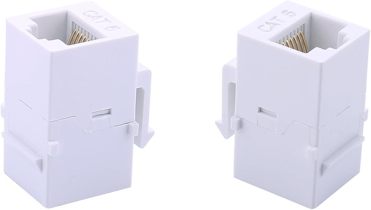 HDMI Keystone Jack Inserts 90 Degree iGreely 10Pack Angled HDMI Inline Keystone Coupler Female to Female White