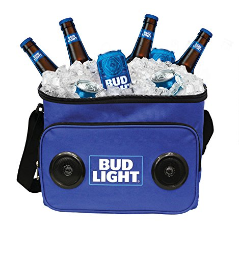Bud Light Soft Cooler Bluetooth Speaker Portable Travel Cooler with