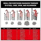 HORUSDY 131Pc Thread Repair Kit, HSS Drill Helicoil