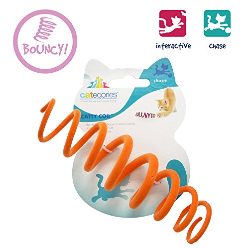 Categories Catty Coil Spring Action Cat Toy - Assorted Colors