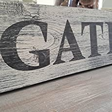 Gather Wood Sign Dining Room Kitchen Decor Rustic Distressed