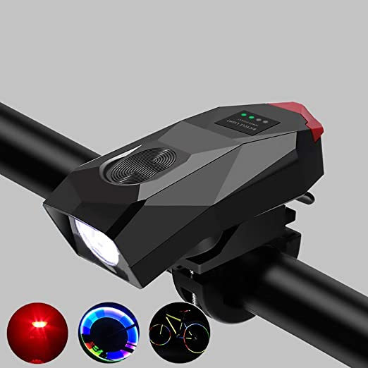 ZXASDC Timbre de Bicicleta, E-Bell USB Recargable Timbres para ...