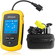 Venterior Portable Fish Finder Handheld Fishfinder Fishing Gear with Sonar Transducer, LCD Display, Water Resi