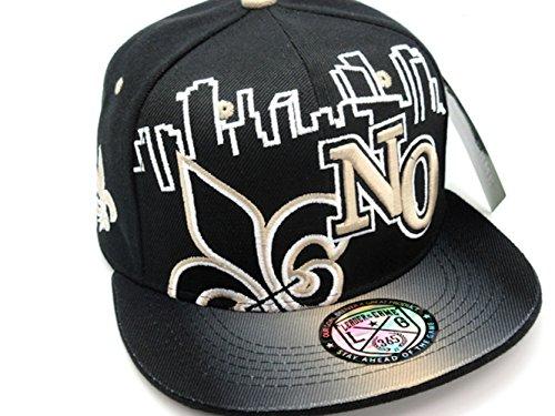 New Orleans Sky Line Snap Back Cap in Saints Colors Black & Gold