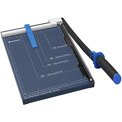 Marigold Professional Metal Base Plate Paper Trimmer, Blue, 12