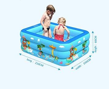 APCGK Piscinas Desmontables Piscina Hinchable para Niños Y Adultos Patio De Juegos 210 Cm Piscina Infantil De Tres Anillos Engrosada Y Resistente Al Desgaste-210: Amazon.es: Juguetes y juegos