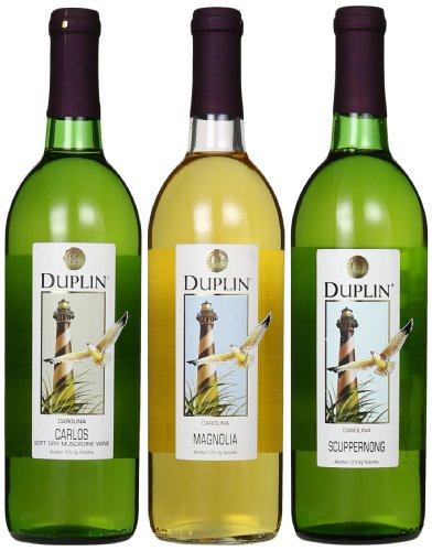 Duplin Winery Carlos, Magnolia, Scuppernong, Mixed Pack 3 x 750 mL