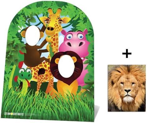 Fan Pack Jungle Stand In Child size Cardboard 2D Standup Cutout Plus 20x25cm Photo