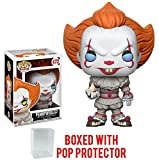 Funko Pop! Stephen King's It Pennywise Clown Vinyl Figure (Bundled with Pop BOX PROTECTOR CASE)