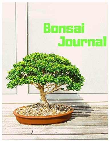 Bonsai Journal: Bonsai Tree Journal/Notebook for Gardening Lovers to Write in, Journal Paper, 110 Lined Pages (8.5x11 Inch.) Featuring Sunny and Green Design