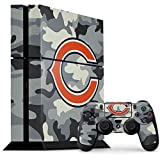 Skinit NFL Chicago Bears PS4 Console and Controller Bundle Skin - Chicago Bears Camo Design - Ultra Thin, Lightweight Vinyl Decal Protection