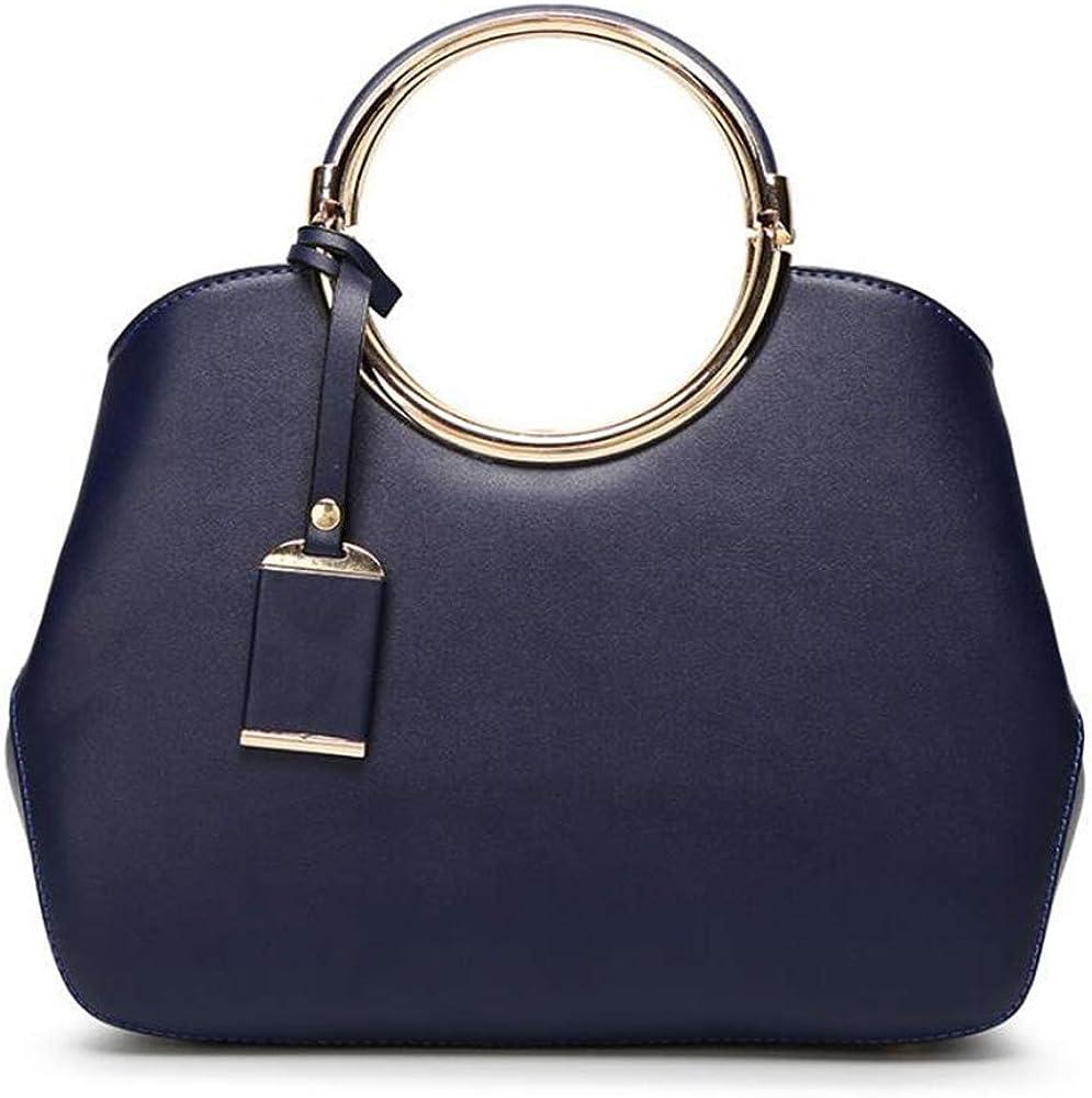 Jones Joy Womens Leather Structured Shoulder Handbag Ladies Evening Party Satchel