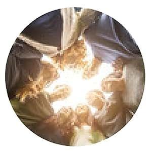alfombrilla de ratón Grupo multiétnico de Amigos en un círculo - ronda - 20cm