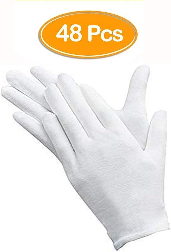 ANDSTON 24 pares de guantes blancos, algodón, guantes de tela ...