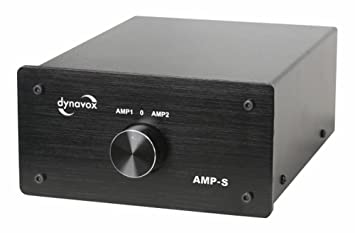 DynaVox AMP-S - Amplificador/conmutador, color negro