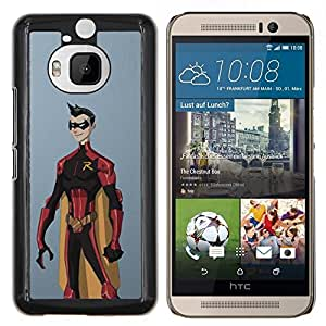"Be-Star Único Patrón Plástico Duro Fundas Cover Cubre Hard Case Cover Para HTC One M9+ / M9 Plus (Not M9) ( Superhero Costume Cabo cómico Robin"" )"