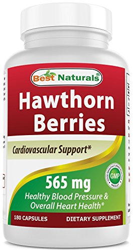 - Best Naturals Hawthorn Berry 565 mg 180 Capsules