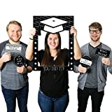 Big Dot of Happiness Graduation Cheers - Graduation Party Selfie Photo Booth Picture Frame & Props - Printed on Sturdy Material