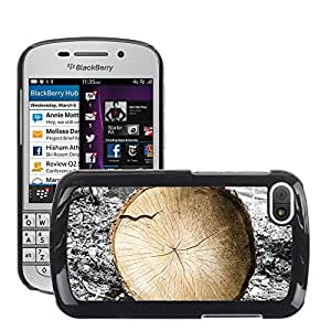 Print Motif Coque de protection Case Cover // M00154316 Los anillos de árbol de madera Registro // BlackBerry Q10