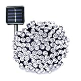 Solar String Lights 72ft 200 LED Ucharge Solar Christmas Lights White Waterproof Outdoor String Lights for Gardens, Homes, Wedding, Party, Christmas tree, Curtains, Outdoors, Christmas Decoration