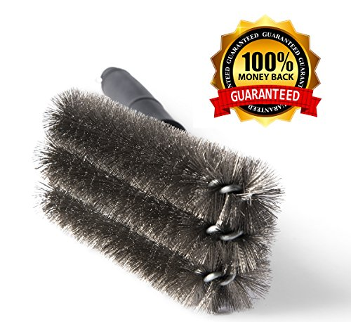 "Kacebela BBQ Grill Brush, 18"" Grill Brush, 2 Basting Brushes, Best Grill Brush with Stainless Steel Woven Wire Bristles, Heavy Duty Grill Brush, 360° cleaning BBQ Brush Barbecue Brush"
