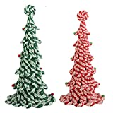 Byers' Choice Candy Cane Trees Set/2 - Red 12'' & Green 13''