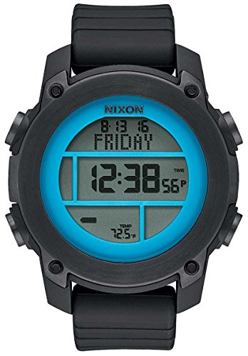 Nixon Men's 'Unit Dive' Japanese Automatic Stainless Steel and Rubber Sport Watch, Color:Black (Model: A9622238-00) (Nixon Mens Dive Watch)