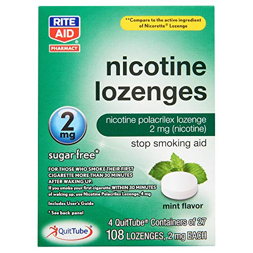 Rite Aid Mint Nicotine Lozenges, 2mg – 108 Lozenges   Mint Flavor   Quit Smoking Products   Stop Smoking Aids That Work…