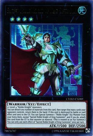 Yu-Gi-Oh! - Sacred Noble Knight of King Custennin - CYHO-EN089 - Ultra Rare - Unlimited Edition - Cybernetic Horizon