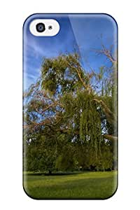 Hot 6933978K95862151 Tpu AnnaSanders Shockproof Scratcheproof Nice Leaning Tree Hard Case Cover For Iphone 4/4s