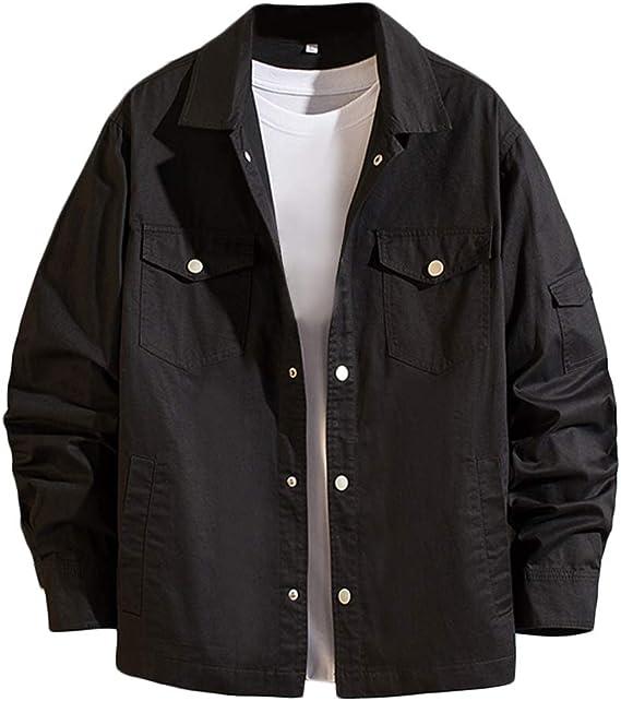 [YFFUSHI]メンズ ジャケット デニム 綿 無地 カジュアル スリム ジージャン gジャン 大きいサイズ 長袖 春秋 M-5XL